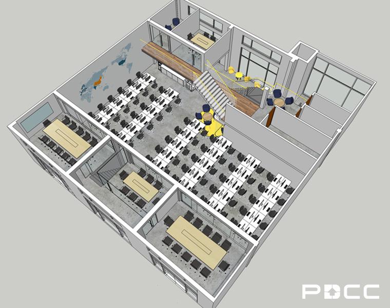 欢尚电子商务办公室设计图2-PDCC办公室装修图片