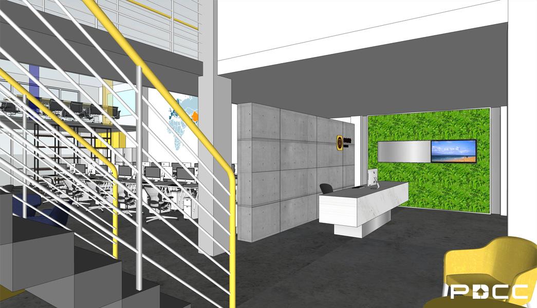 欢尚电子商务办公室前台设计图-PDCC办公室装修图片
