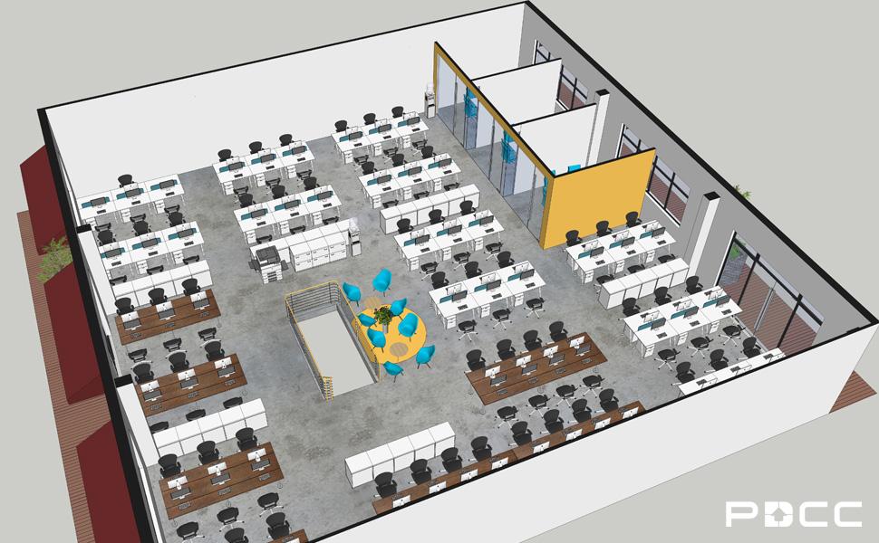 欢尚电子商务办公室设计图3-PDCC办公室装修图片
