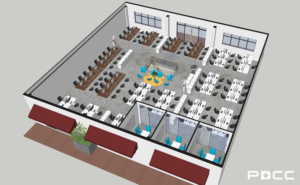 欢尚电子商务办公室设计图4-PDCC办公室装修图片