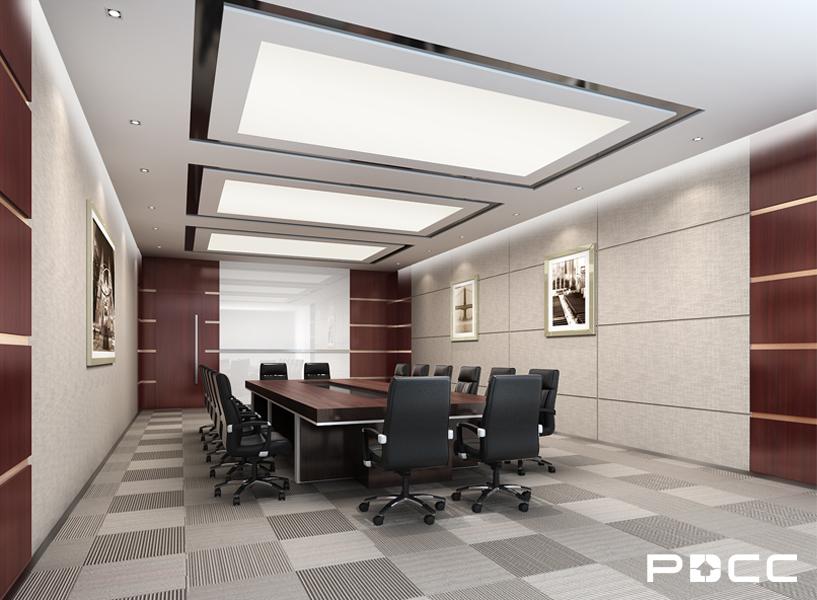 美钻石油办公室会议室装修实景图-PDCC办公室装修图片