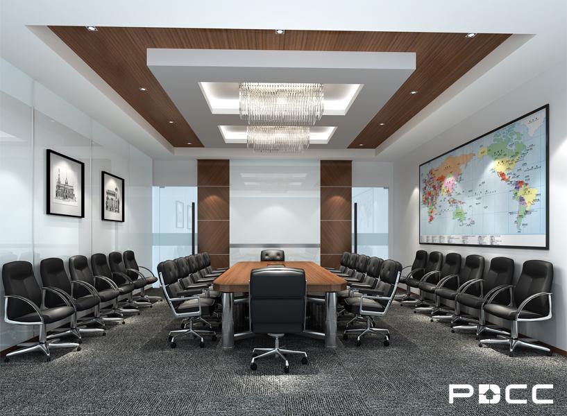美钻石油办公室会议室装修效果图-PDCC办公室装修图片