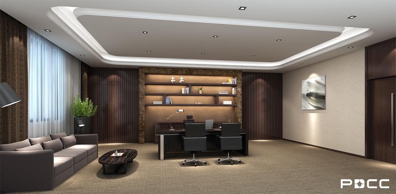 美钻石油经理办公室装修实景图-PDCC办公室装修图片