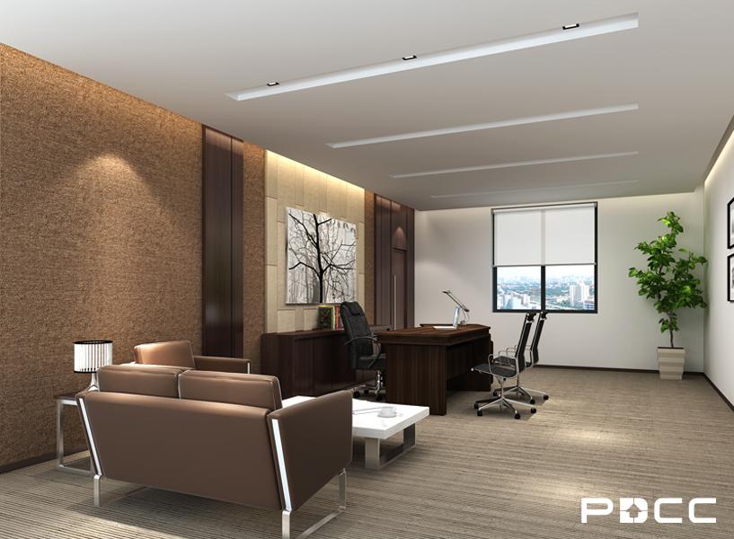 美钻石油经理办公室装修效果图-PDCC办公室装修图片