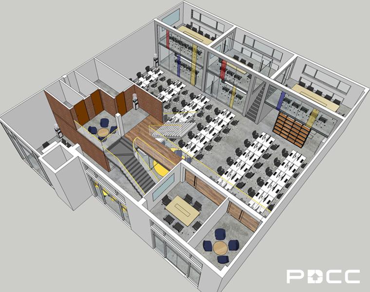欢尚电子商务办公室设计图1-pdcc办公室装修图片