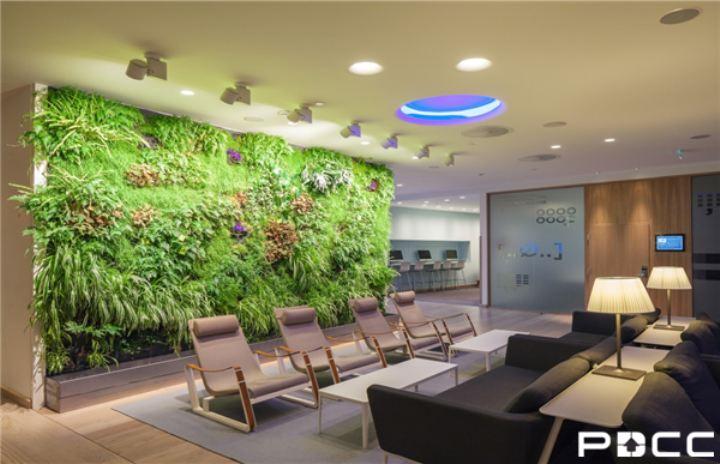 上海PDCC谈办公室墙面装修