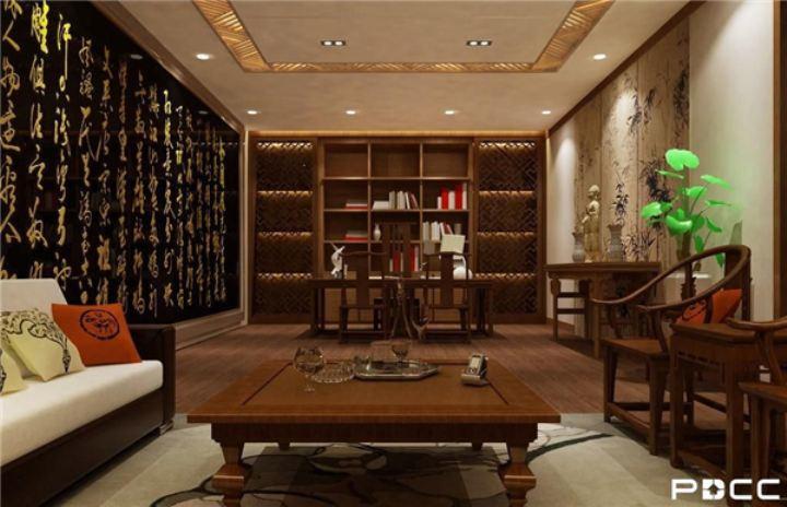 中式办公室装修风格软装原则你知多少?