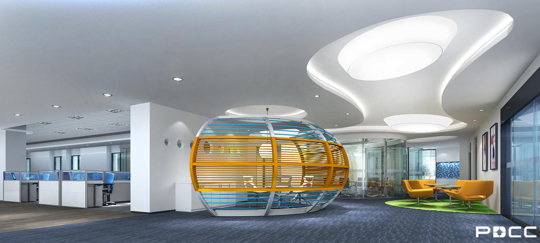 生物办公室简约设计图_生物办公室休闲区装修