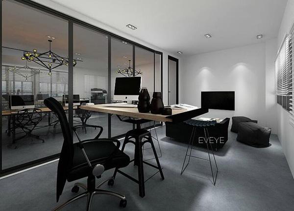 现代风格办公室设计之黑白灰系列